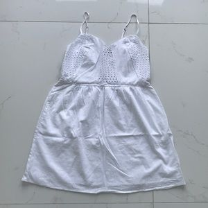 Fire Los Angeles white dress embroiled jr M